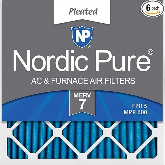 AIR HANDLER 6GKL4 Pleated Air Filter,20x23x1,MERV 7 PK 12