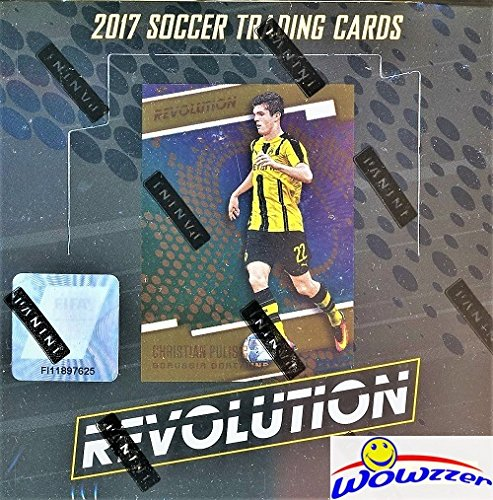 (2017 Panini Revolution Soccer Factory Sealed HOBBY Box with 8 Parallels, 5 Inserts & More! Look for Cards & Autographs from Lionel Messi, Ronaldo, Maradona, Christian Pulisic & Many More! WOWZZER!)