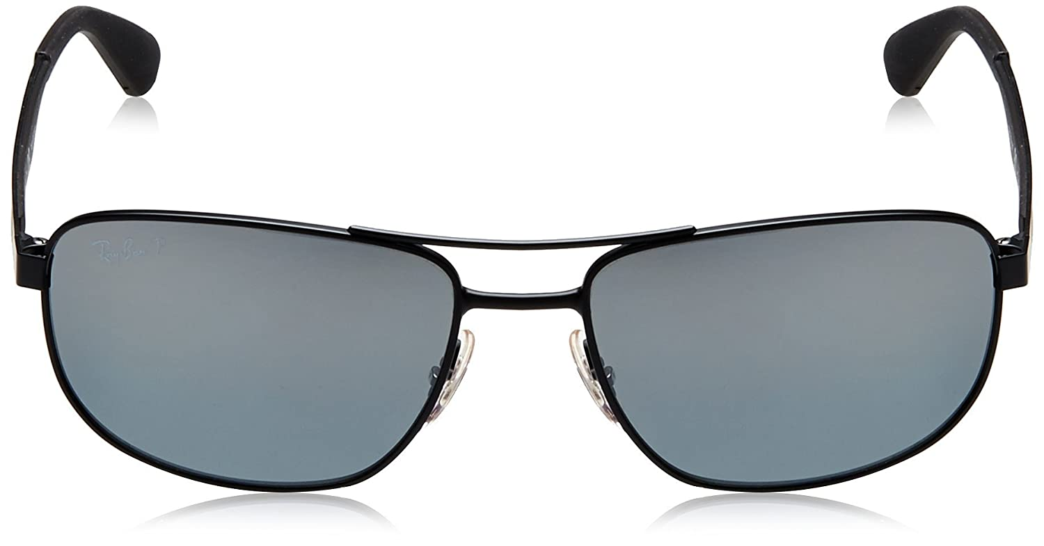 e81f78b583 Amazon.com  Ray-Ban Men s Metal Man Sunglass Polarized Square