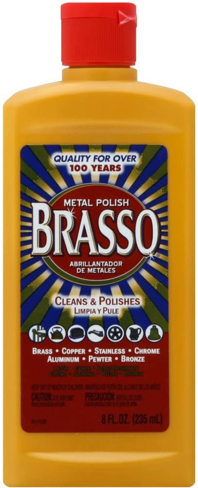 Brasso Multi-Purpose Metal Polish, 8 oz