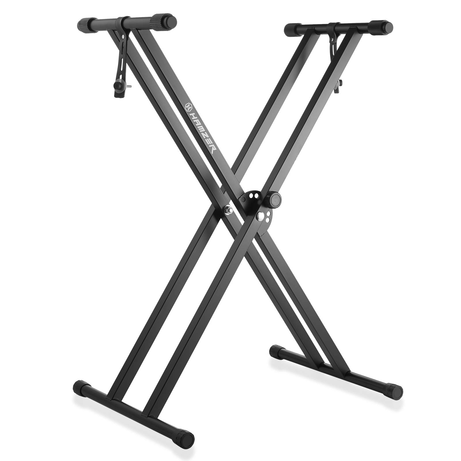 Hamzer Premium Heavy Duty Double Braced Adjustable X2 Style Music Piano Keyboard Stand by Hamzer