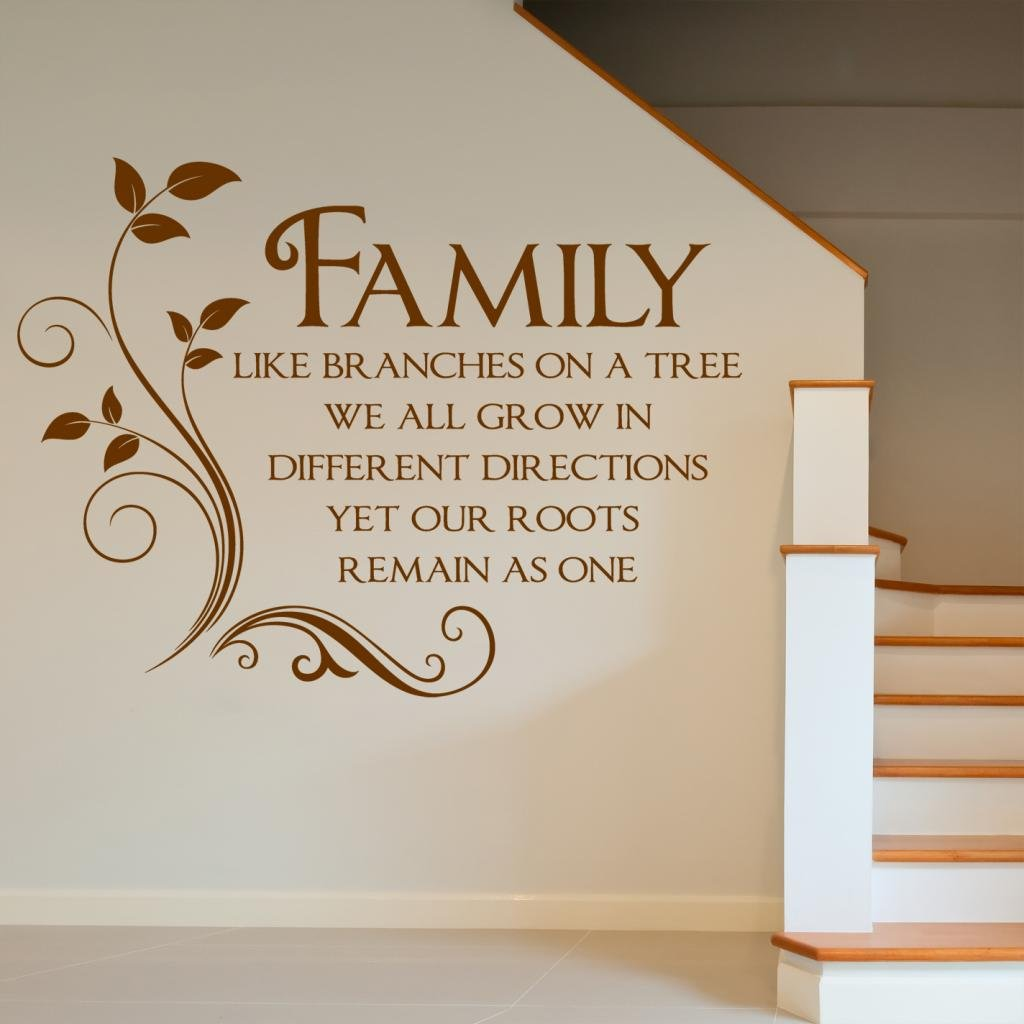 Family Like Branches On A Tree   Quote Words Wall Sticker   Art Decal Vinyl  Stickers, Easy To Apply, Free Applicator, Easy Peel   (PLEASE CHOOSE YOUR  SIZE ...