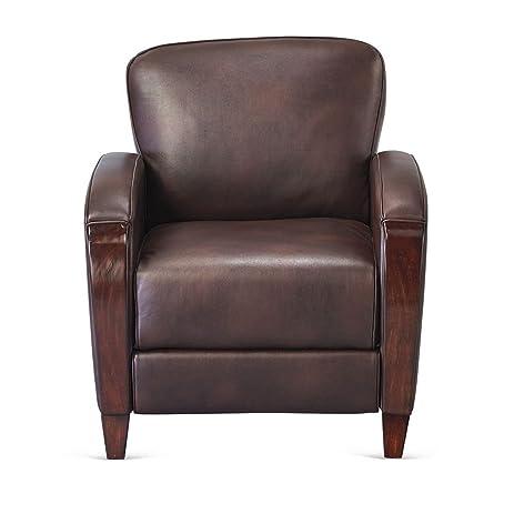 Charming Faux Leather Wood Trim Club Chair Dimensions: 31.25u0026quot;W X 33.25u0026quot;D X
