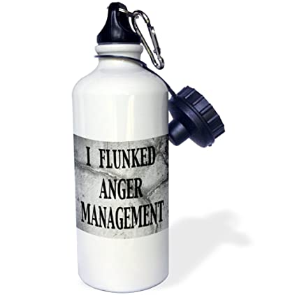 3drose Flunked Anger Management Sports Water Bottle 21oz Wb 171965 1 Multicolored Amazon In Home Kitchen