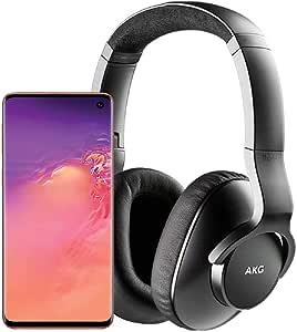 Samsung Galaxy S10 Factory Unlocked Phone with 512GB (U.S. Warranty), Flamingo Pink w/AKG N700NC M2 Headphones