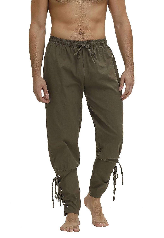Zhitunemi Pantalones de Hombre con Banda en el Tobillo, Pantalones ...