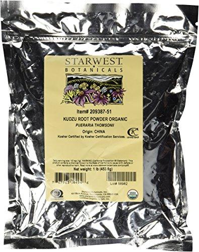 Kudzu Root Powder Organic - Pueraria Thomsonii, 1 lb,(Starwest Botanicals)