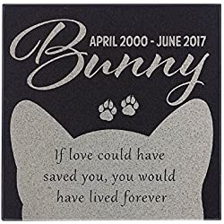 If Love Could Save You - Cat Face Cat Memorial Personalized Grave Stone For Cat | Granite