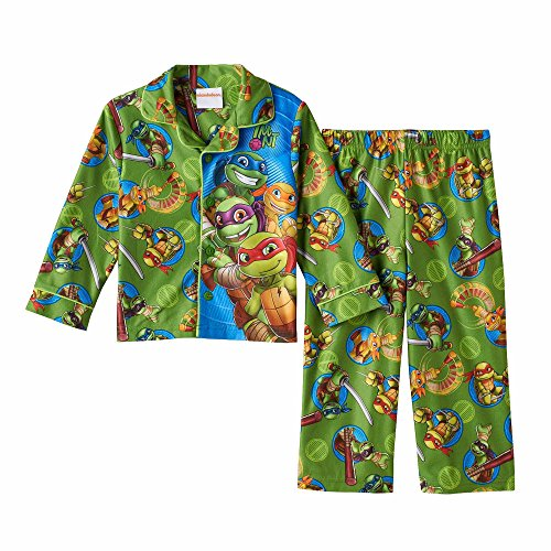Toddler Boys Teenage Mutant Ninja Turtles Flannel Coat Style Pajamas (Coat Style Pajamas)