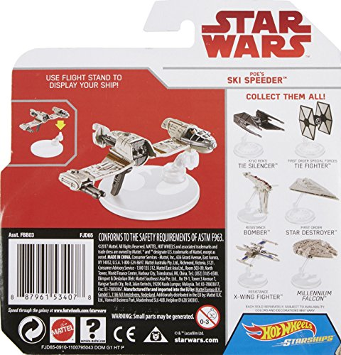 41iwT9lMZpL Hot Wheels Star Wars: The Last Jedi Poe's Ski Speeder Die-Cast Vehicle