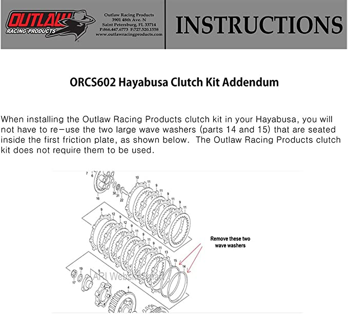 Outlaw Racing ORCKA22 ATV Clutch and Gasket Repair Rebuild Kit Includes Gasket Compatible with Yamaha YFZ350 BANSHEE 1987-2006 Springs Steel /& Fiber Plates
