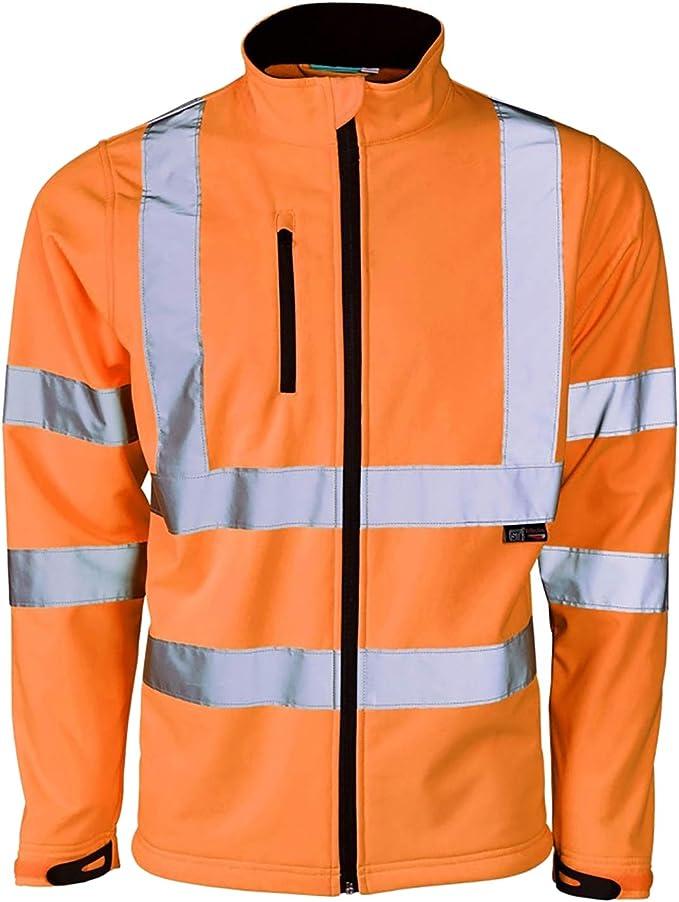 SOFTSHELL BODY WARMER workwear safety hi vis reflective vest warm mens work wear