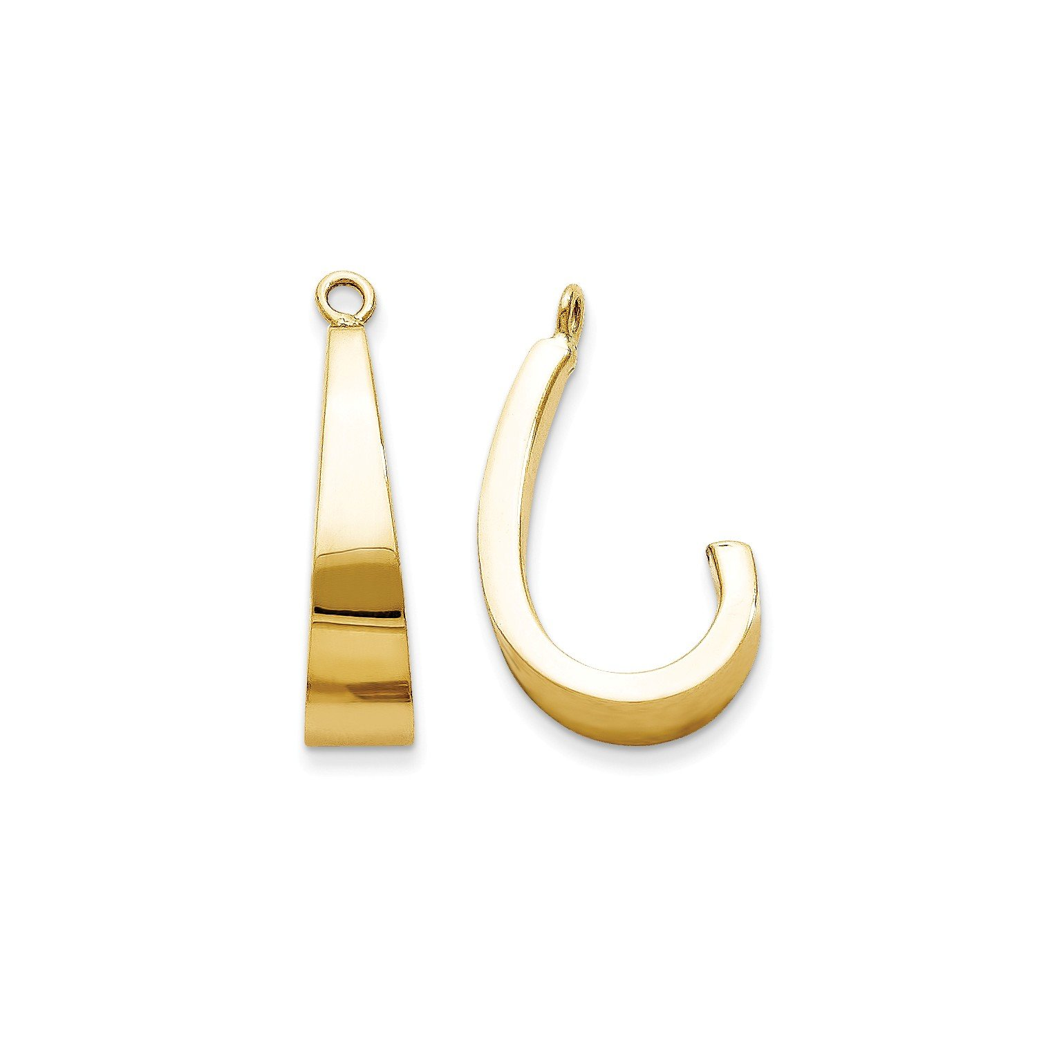 Roy Rose Jewelry 14K Yellow Gold Polished J-Hoop Earring Jackets
