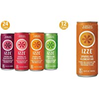 24-Pack IZZE Sparkling Juice 8.4 fl-Oz. in 4 Flavors & 12-Count Clementine Juice
