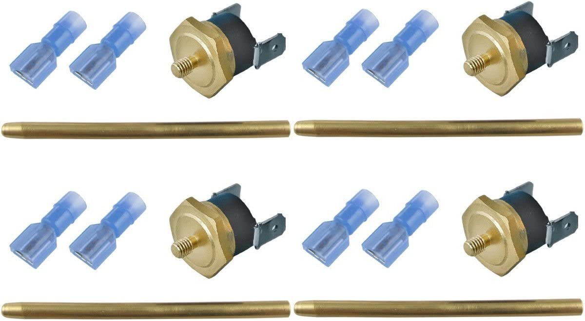 """4-PACK 180/'F RADIATOR FAN THERMOSTAT SWITCH 1//8/"""" INCH ELECTRIC TEMPERATURE PROBE"""