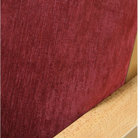 (Chenille Cranberry Fitted Mattress Cover Full)