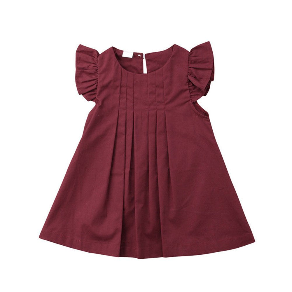 newEmergingstyle Baby Girl Summer Dress Kids Princess Party Tutu Dresses Clothes 0-3 Years