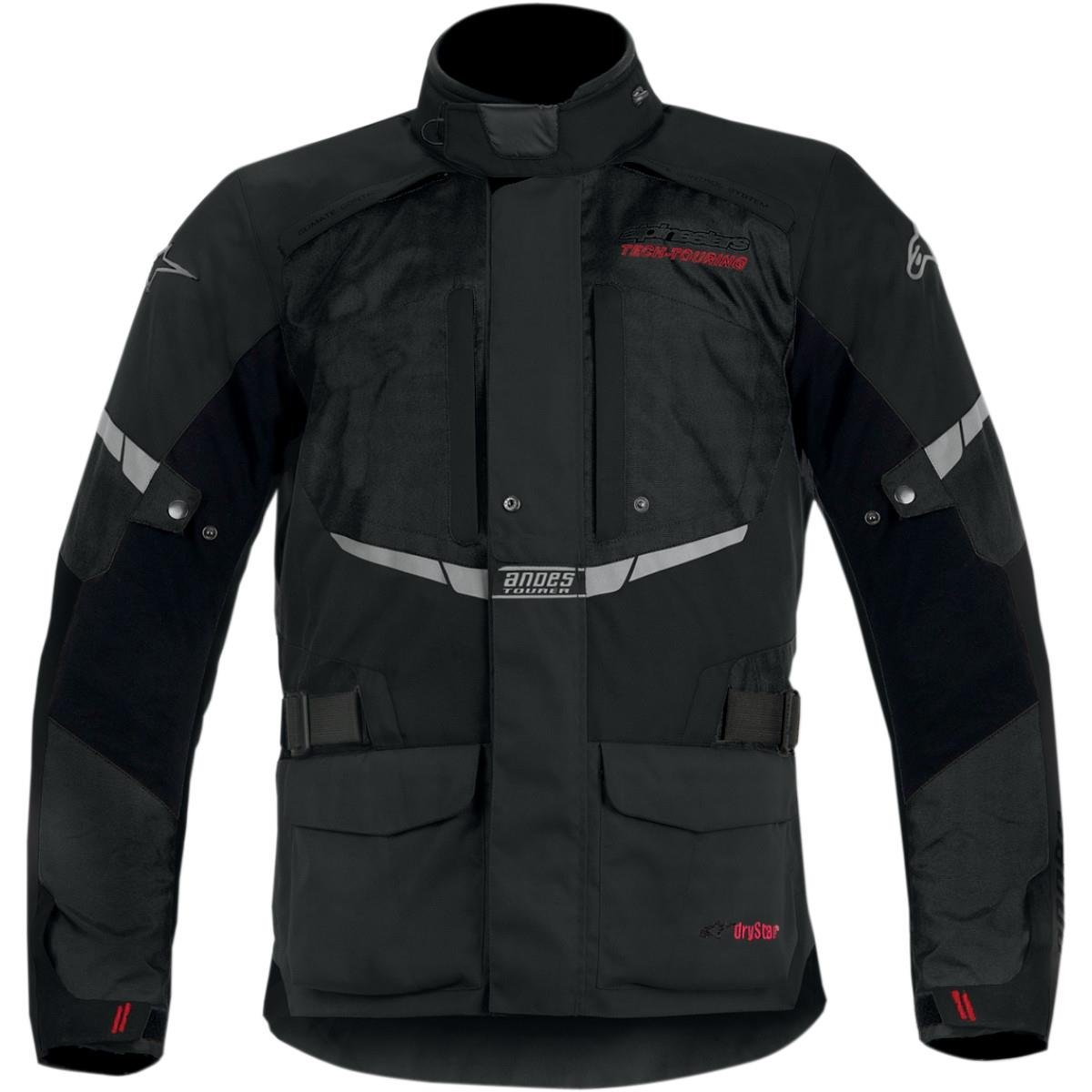 Alpinestars Mens Andes Drystar Waterproof Textile Jacket 2013 XX-Large Black