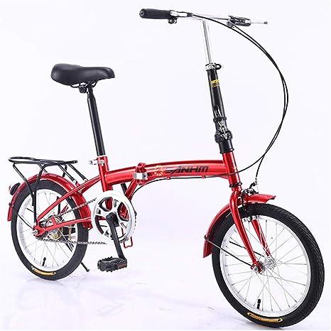 KXDLR Plegable con El Ciclismo Bicicleta Plegable De 16 Pulgadas ...