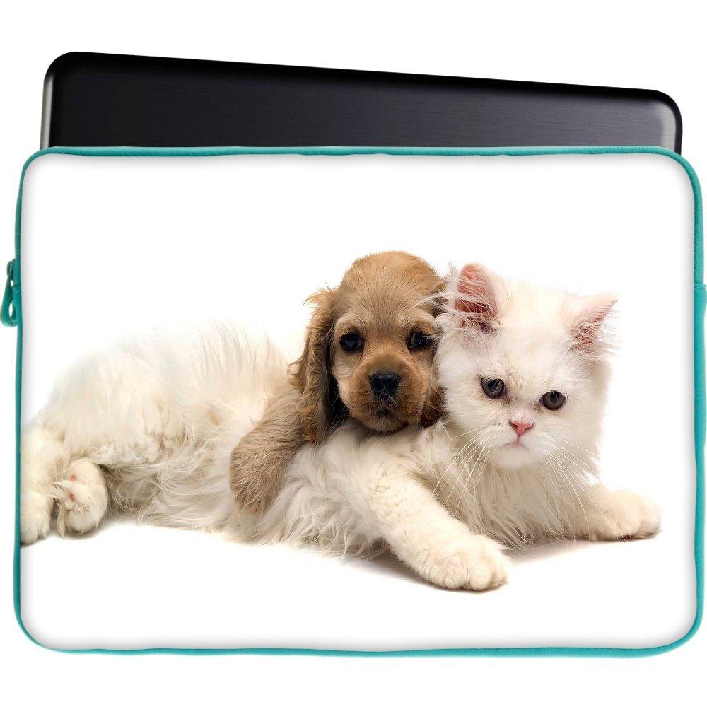 Snoogg Cachorro con gato persa funda 15