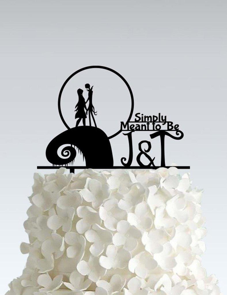 Acrylic Wedding Cake Topper - Nightmare Before Christmas - Simply ...