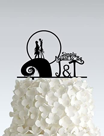 acrylic wedding cake topper nightmare before christmas simply neant to be email us