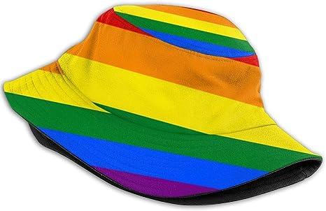 color negro Sombrero de pescador de moda para exteriores /¡Orgullo Gay de la UE