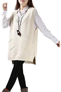 14bcf59f04f86 Vemubapis Women Monocolor Loose Cardigan Knit Sweater Longline Coat ...