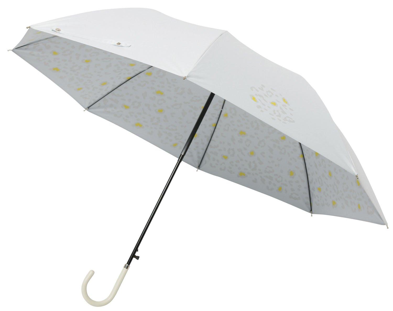 mabu 晴雨兼用 ジャンプ長傘 「 ヒートカット 」 ショートジャンプ スノーレオパード B0794QLKBK長傘「ショートジャンプ」
