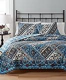 Martha Stewart Antique Market Reversible 100% Cotton Multi Color Full Queen Quilt