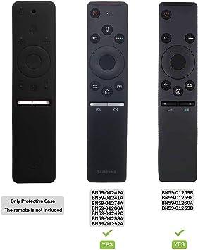 Funda para el Mando a Distancia Case Samsung 4K UHD Smart TV SIKAI Antideslizante de BN59-01259B BN59-01242A Silicona Carcasa Funda Case con Cordón respetuosa con el Medioambiente (Negro): Amazon.es: Electrónica