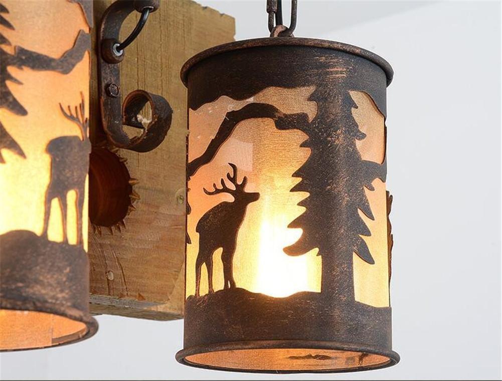 Plafoniere Da Forno : Atmko lampade a sospensione lampadario retrò in legno