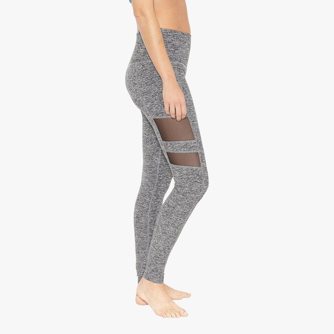 Beyond Yoga Spacedye Striped Mesh High Waist Midi Legging, Black-White Sd, X-Small