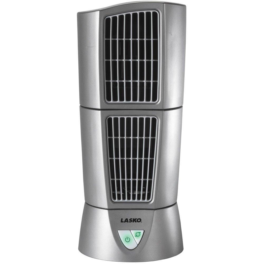 Lasko T14200 Air Stick Ultra Slim Oscillating Fan Tabletop Tower Black Two Speed