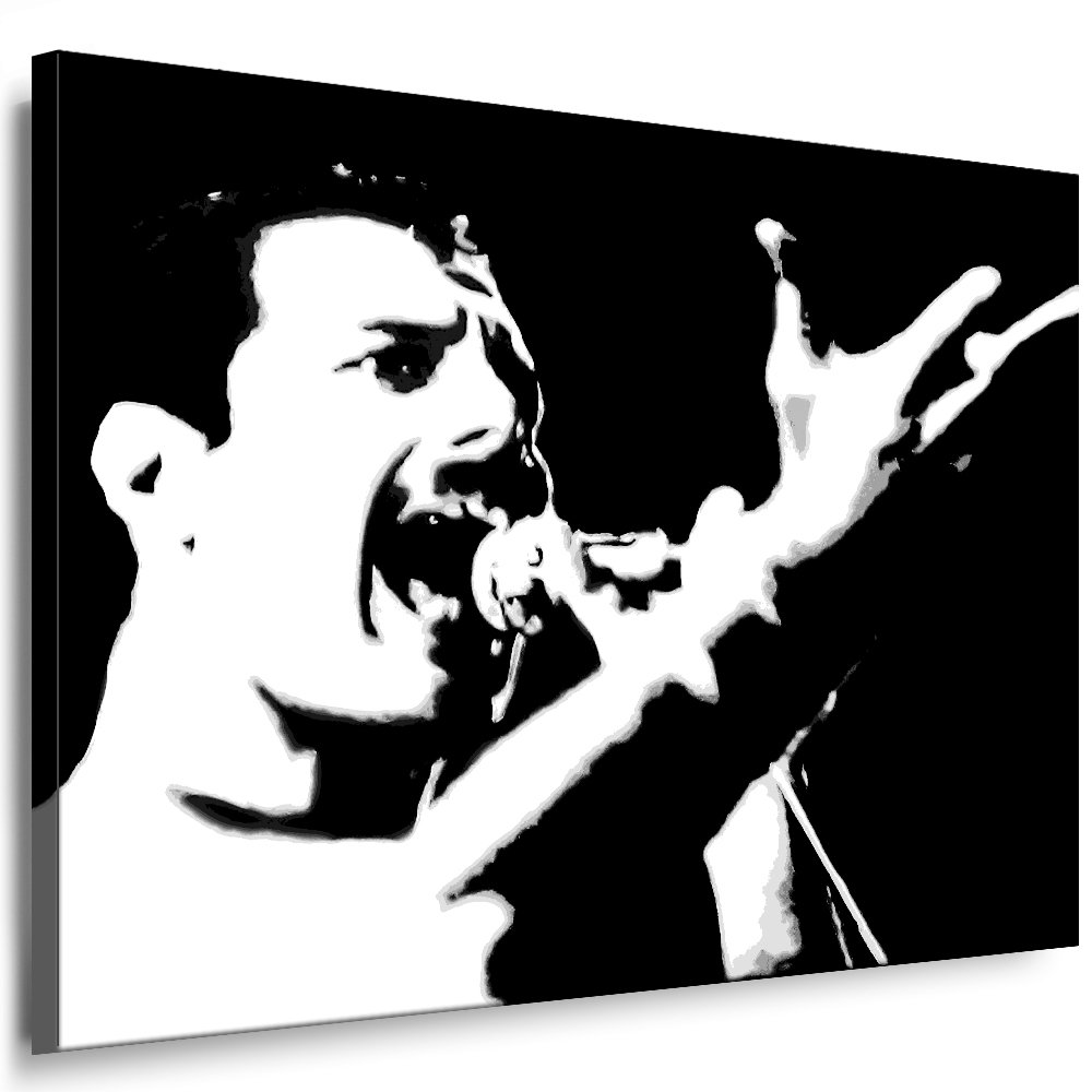 Bilder Kunstdrucke   Boikal   Leinwand Bild mit Keilrahmen Queen - FROTdie Mercury 100x70 cm xxl.651