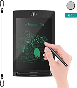 "LCD Writing Tablet Drawing Board - Electronic Writing Board, REOTECH 8.5"" Jot Doodle Pad Handwriting Tablet, Fridge Memo Note Board for Kids and Adults at Home,School and Office (Black)"