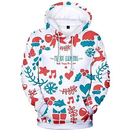 Copos de nieve notas 3D impresiones Pullover sudadera con capucha de invierno de lana con capucha