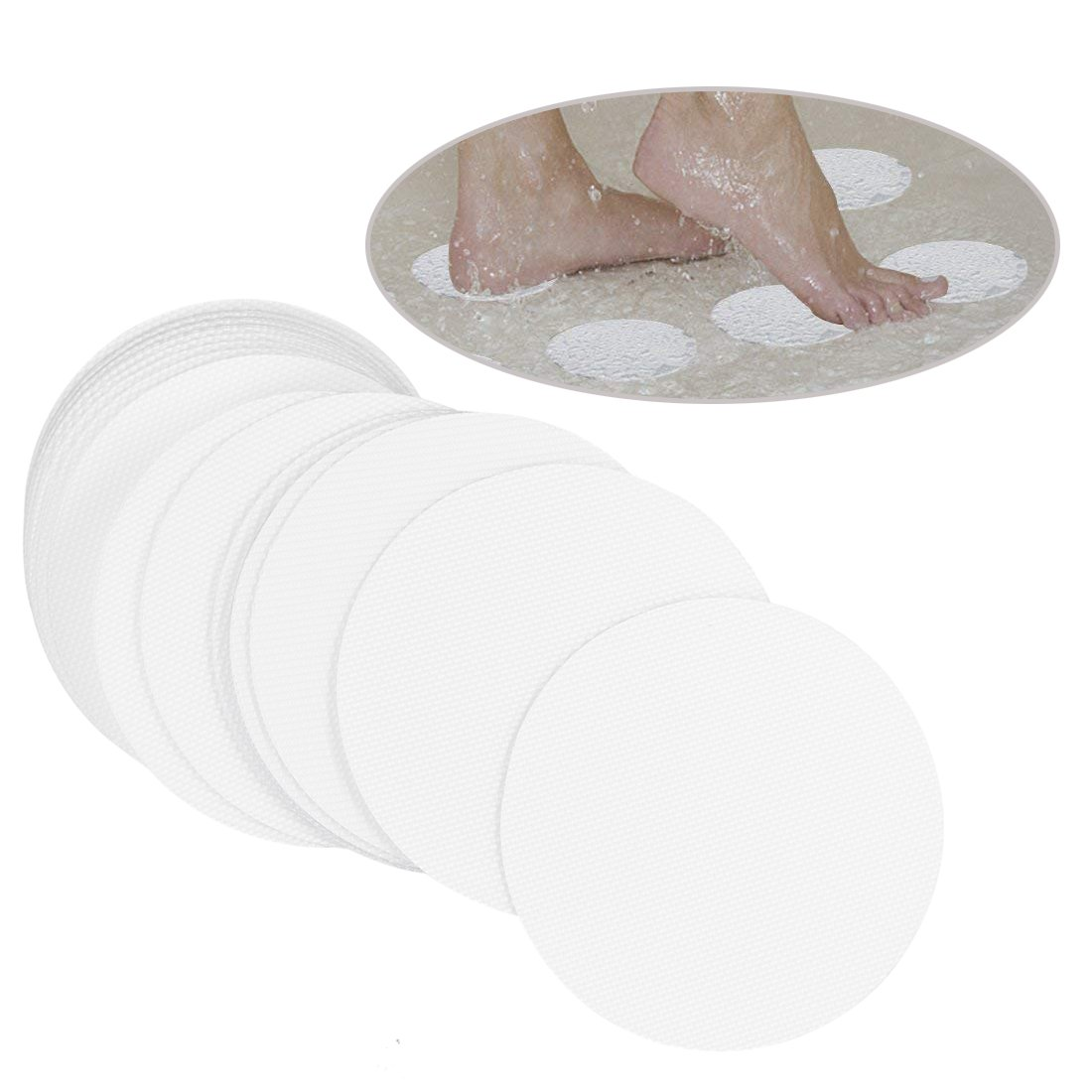 10cm PEVA Clear Anti-slip Discs Tape Non Slip Stickers for Tubs Bath Blue Handcart 20 Pieces Safety Shower Treads