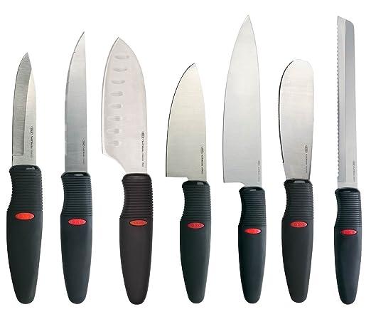 Amazon.com: OXO 7-Piece Juego de cuchillos, color negro y ...