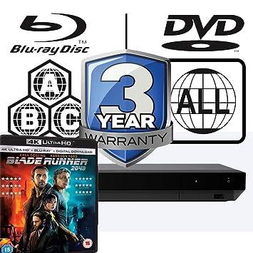 Sony UBP-X800 MULTIREGION Blu-ray Player Bundle with Planet Earth 2 Ultra HD 4K Blu-ray Disc