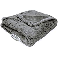 Serta Faux Fur Reversible Electric Heated Throw Blanket