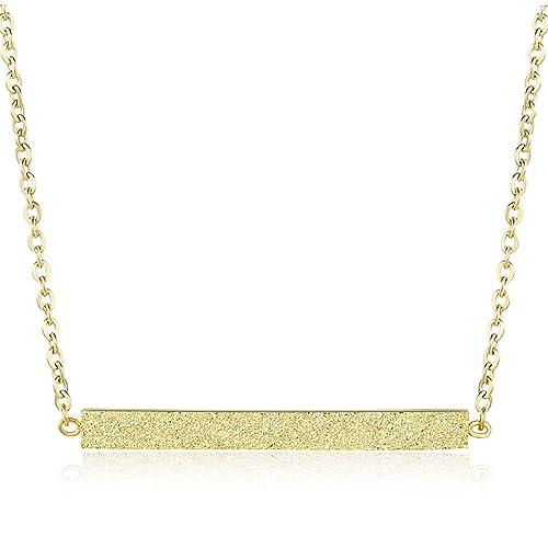 5fd78754f08 Rosa Vila Minimalist Bar Necklace, Rose Gold Necklace, Bar Necklaces Women,  Rose Gold Jewelry Women, Gold Bar Necklace Rose Gold Bar Necklace, ...