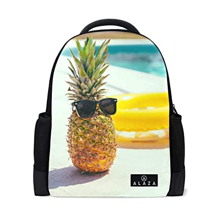 aed37da314d6 Amazon.com: Backpack Cool Pineapple and Swim Ring Womens Laptop ...