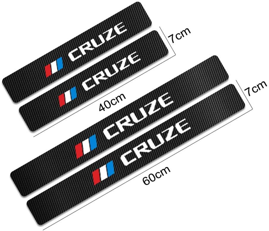 for Chevrolet Cruze Door Sill Protector Carbon Fiber Sticker Door Entry Guard Door Sill Scuff Plate Stickers Auto Accessories 4pcs