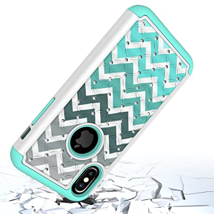 reputable site 18357 72182 iPhone X Case, Tiffany Blue, Diamond, Dual Layer, Polycarbonate ...