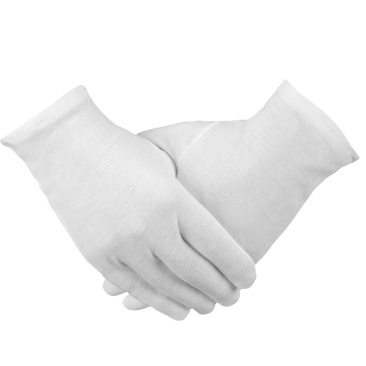 Madholly 12 pairs Moisturizing Cotton Gloves White Cosmetic Gloves Hand SPA Gloves Moisture Enhancing Gloves for Dry Hands and Beauty by Madholly (Image #1)