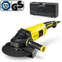 TROTEC Winkelschleifer Pags 10–230(2.000W) inkl. Koffer und Trennscheibe, 230mm, 6.500/min, Zusatzhandgriff variabel montierbar in 3Positionen