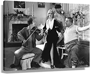 The Three Stooges Retro Movie Poster Kit for Wall Pictures for Bedroom Aesthetic Kitchen Painting Decoration Artwork for Home Print Bathroom Canvas Modern Painting Oil Giclee Print (36x24inch,Unframed)