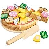 Happy People 45020 - Holz-Pizza, 14 Stück