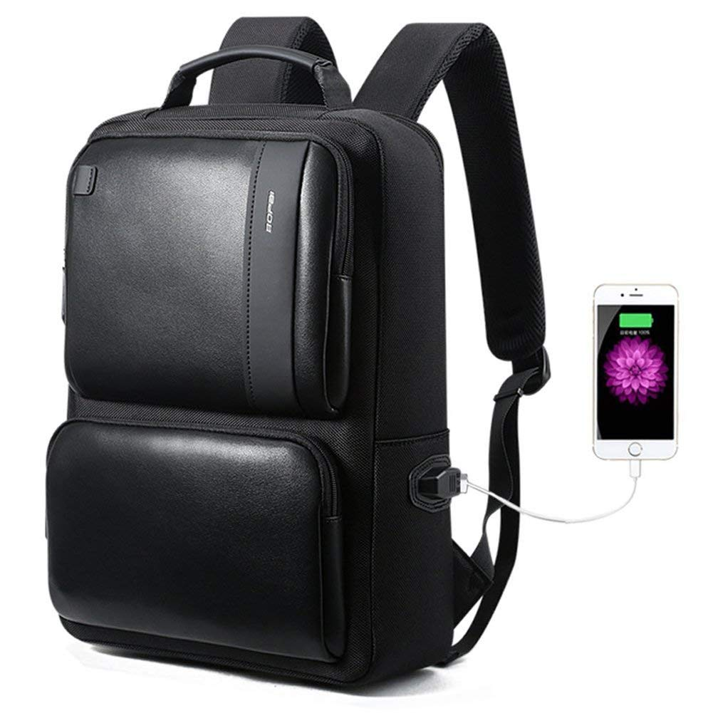 ビジネスバックパック、防水ラップトップバッグ、USB充電ポート、盗難防止用コンピュータのリュックサック(通学用) B07QFNNVXN